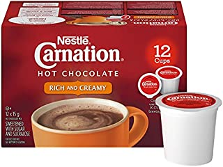 CARNATION Rich Hot Chocolate, KEURIG K-CUP Compatible Pods, 12x15g (12 Cups)