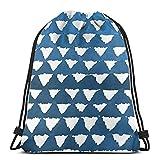XCNGG Sac à Cordon Sac à Cordon Sac Portable Sac de Sport Sac à provisions Blue Pattern Drawstring Sports Gym Bag Travel Backpack