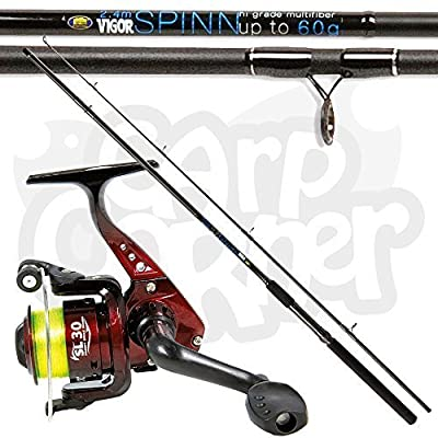 Lineaeffe SL30 1BB Reel with Vigor 2.4m / 8ft Spin Float Fishing Rod 60g Action by Lineaeffe