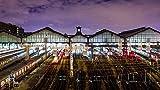 YDANH Hermoso Rompecabezas de 1000 Piezas para niños, Adultos, Juguetes educativos Fantástico Regalo Decorativo - Francia, estación de Tren Paris Saint-Lazare