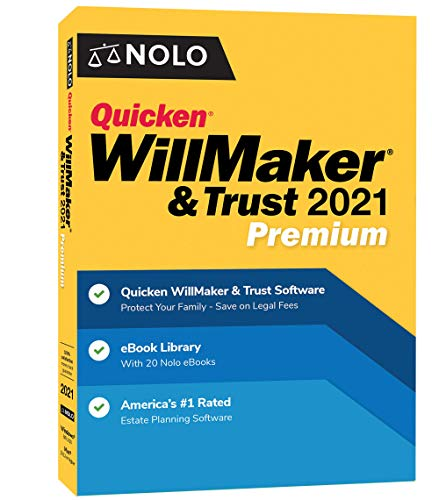 Nolo WillMaker & Trust 2021 Premium - Windows and Mac I Includes Get It Together and Special Needs Trust eBooks
