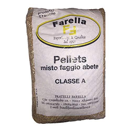 Pellet Farella 15kg Ideale per stufe e caldaie a pellets