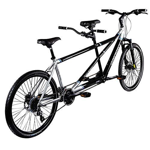 Galano Tandem Fahrrad 26 Zoll Mountainbike Nashville 24Gang MTB Hardtail Fahrrad (schwarz/grau, 53/46 cm) - 3