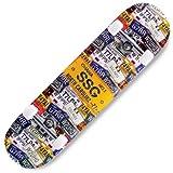 Skateboard completo da 78,7 x 20,3 cm, per tavole standard a 7 strati in acero, per ragazzi, ragazze, adolescenti, adulti, principianti (giallo)