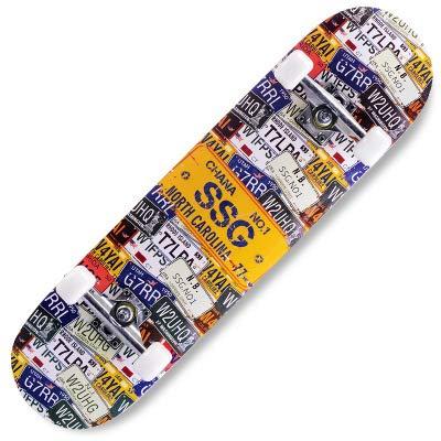 Tabla de skate completa de 78,7 x 20,3 cm para cubierta de arce de 7 capas, tablas estándar para adolescentes, adultos principiantes