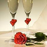Stölzle Lausitz L´Amour Sektkelche mit roten Herzen, 175ml, 2er Set, spülmaschinenfest, Romantisches Sektglas-Duo, hochwertige Qualität, spülmaschinenfest - 5