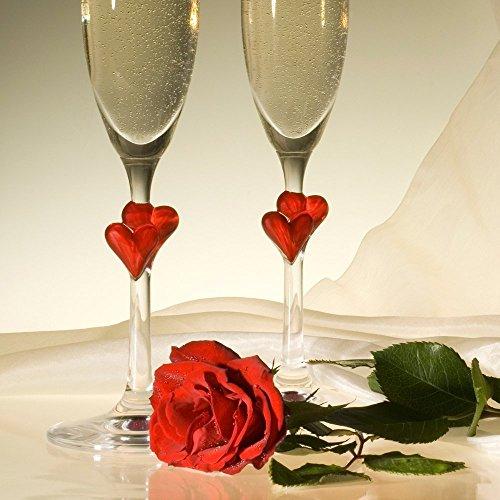 Stölzle Lausitz L´Amour Sektkelche mit roten Herzen, 175ml, 2er Set, spülmaschinenfest, romantisches Sektglas-Duo, hochwertige Qualität, spülmaschinenfest - 4