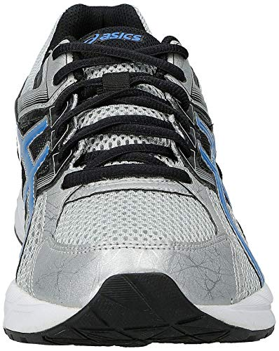 ASICS Men's Gel Contend 3 Running Shoe, Silver/Electric Blue/Black, 8 4E US