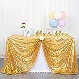 ShinyBeauty tovaglia con paillettes argento tovaglia con paillettes per tovaglie natalizie tovaglia rettangolare lavabile per matrimoni / feste 60 x 102 pollici (60x102 pollici, oro)