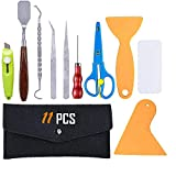AIVS 11 Pieces Craft Weeding Tools Set Craft Vinyl Tools for Weeding Vinyl, Silhouettes, Cameos, Lettering