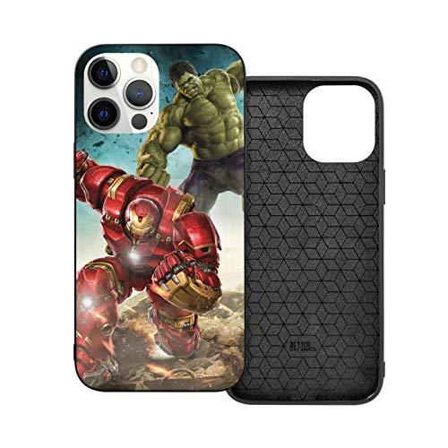 VOROY (Hul-K Vs Hulkbuster A-P-P-L-E - Carcasa para iPhone 12, color negro