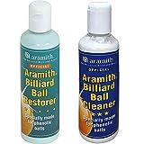 Aramith Billiard Ball Restore - Par de limpiadores líquidos para bolas fenólicas para...
