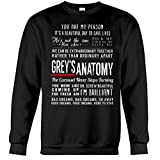Greys Anatomy Quotes Sweatshirt - Grey's Shirt Merchandise Gifts for Fans - Youre My Person (Medium)