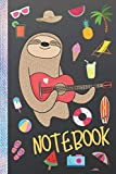 Just A Girl Who Loves Sloths, Notebook: Sloth Notebooks and Journals, Dotted Grid Paper 6 x 9 inches 120 pages for Writing Journaling Drawing and ... Beach Trip Cover (Sloth Notebook and Journal)