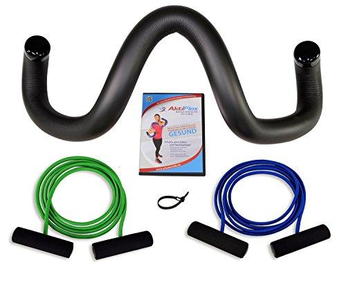 AktiFlex® Schulterhilfe® Optima Comfort-Set Schultertrainer gegen Schulterschmerzen und schlechter Haltung (Schwarz, 3. Standard -L-)