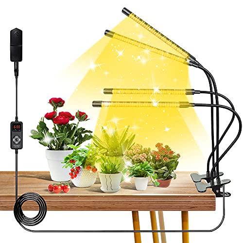 CNSUNWAY LIGHTING LED Pflanzenlampe, 20W 264Led Vollspektrum Pflanzenlicht, 4 Schaltmodi und 9 Dimmbare Pflanzenlicht für Hydroponik Sukkulentes Wachsen