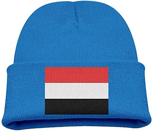 NR Die Hüte des jemenitischen Flaggen-Kindes Winterlustige weiche Strickmütze-Kappen-Kinder Unisex, OneSize, Asche