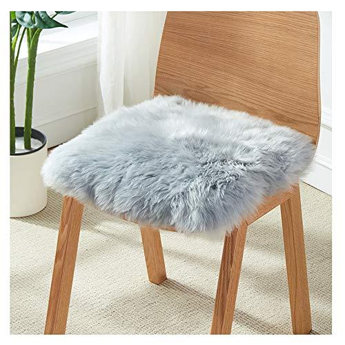 EEKUY zitkussen stoel kussen, natuurlijke schapenvacht bont stof super zacht pluche kussen cover voor bank bed bank huis decoratieve
