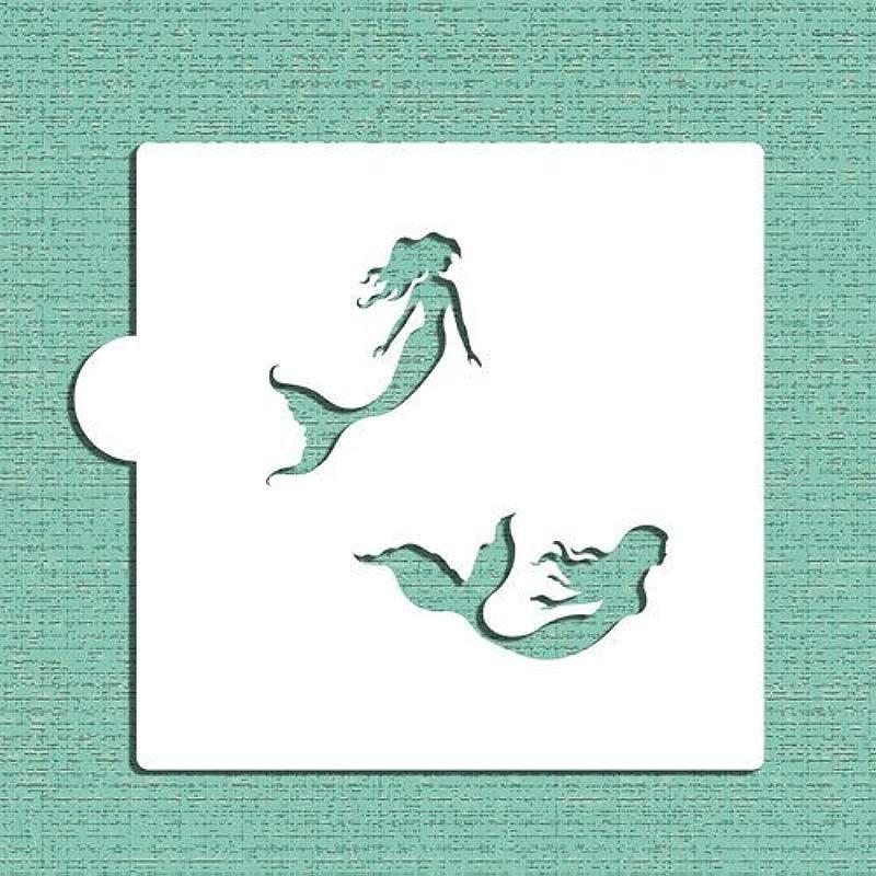 Mermaids Cookie And Craft Stencil CM069 By Designer Stencils