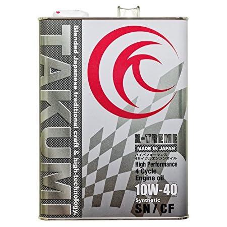 TAKUMIモーターオイル エンジンオイル 10W-40 4L 4輪ガソリン/ディーゼル車用 化学合成油 サーキットスペック