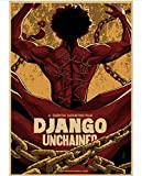 JIUBING Canvas Poster Django Unchained Classic Movie Poster