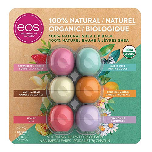 EOS 100% Natural and Organic Shea Lip Balm Sphere Variety...