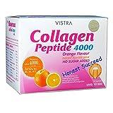 Vistra Collagen Peptide 4000 mg. Orange Flavor 10 sachets/Box.(Honest Succeed)