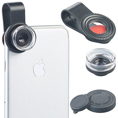 Somikon Makrolinse: Mikroskop-Vorsatzlinse CVL-30 für Smartphones, 30-fache Vergrößerung (Nahlinse)