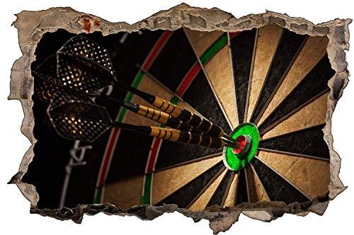 Fotografie Dart Scheibe Pfeile Bullseye Wandtattoo Wandsticker Wandaufkleber D1916 Größe 40 cm x 60 cm