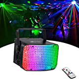 LaluceNatz DJ Lights, 30W RGBW 4 in 1 LED Stage Lights Sound Activated Dj Lighting Dance Lights with DMX Remote Control for Party, Wedding, Church, Festivals, Stage Lighting