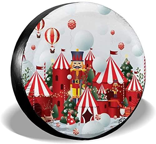 Christmas Winter Wonderland - Cubierta de repuesto para neumáticos,poliéster,universal,de 16 pulgadas,para ruedas de repuesto,para remolques,vehículos recreativos,SUV,ruedas de camiones,camiones,cara