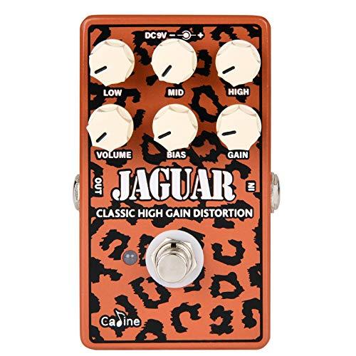 Caline Distortion Guitar Pedal - CP-510 Jaguar High Gain Distortion Effect Pedal with True Bypass Design