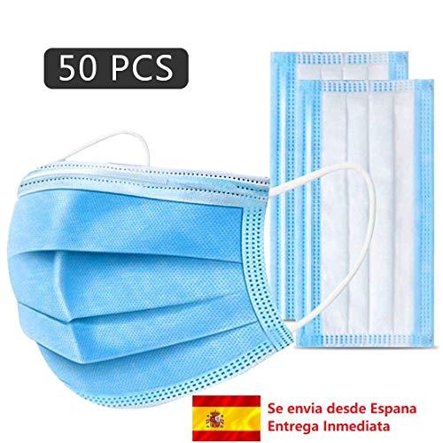 50 PCS Tejido no tejido desechable, certificadas y homologadas adecuado para proteger contra el polvo, salud personal. Envia desde Espana. Entrega Inmediata.
