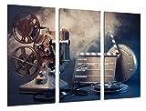 Cuadro Fotográfico Historia Cine Antiguo Hollywood, Proyector Tamaño total: 97 x 62 cm XXL