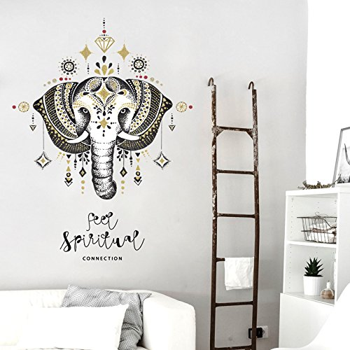 Mural Estilo nórdico Elefante Pegatinas de pared Dormitorio Sala de estar Comedor...