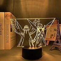 アクリル3D LEDナイトライトアニメソードアートオンラインフィギュアナイトライト誕生日ギフトテーブルルームランプマンガサン-リモコン