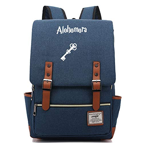 NYLY Adolescente Junior High School Studente zainetto ragazza scuola scuola Harry Potter leggero impermeabile Oxford Cloth Rucksack Medio Marina C