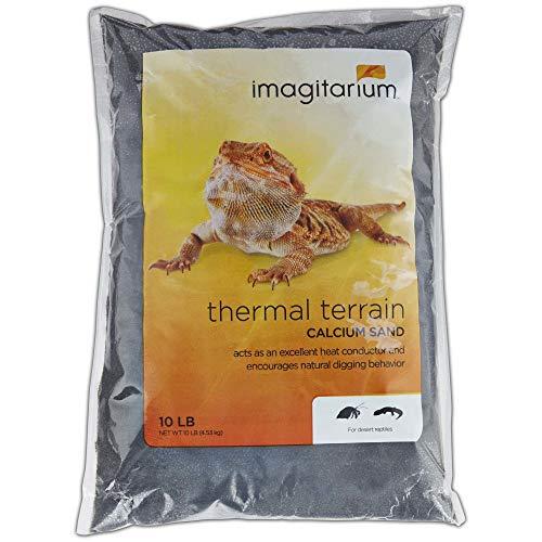 Imagitarium Black Calcium Reptile Sand, 10lb, 10 LB