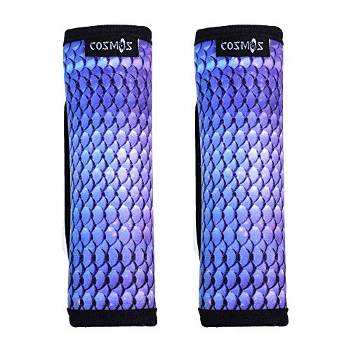 COSMOS Pack of 2 Neoprene Luggage Handle Wrap/Handle Grip/Luggage Identifier for Travel Bag Luggage Suitcase (Blending Scale Pattern)