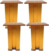 DX 4 x metalen meubelpoten, bankpoten, aluminiumlegering, vierkant, geschikt voor koffietafelladebank kast (30 cm, zilver)