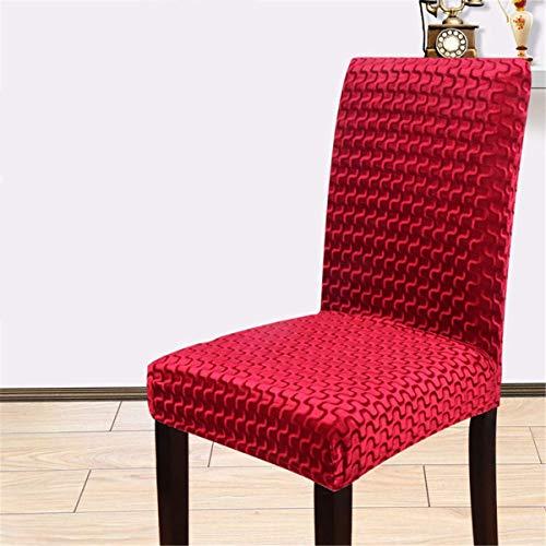 XBSXP Esszimmerstuhlbezüge, Crushed Velvet Stretchable Elastic Chairs Schutzhülle, für Hotel, Restaurant, Hochzeit, Esszimmer Bankettzeremonie, D, 6 Stück