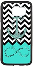Live The Life You Love,Love The Life You Live.Black Chevron & Anchor Infinity Symbol Personalized Custom Best Plastic Hard Case for Samsung Galaxy S6 G9200