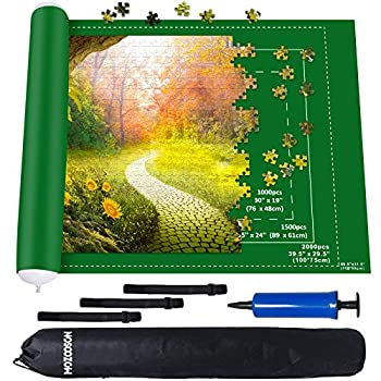 Puzzle Mat Roll Up 2000 Pieces Jigsaw Puzzle Roll Up Felt Mat for Storage Transport and Stay Puzzle Intact 31.5   x 46.46   Portable Puzzle Roll Mat Great Choice for Puzzle Enthusiasts Starter
