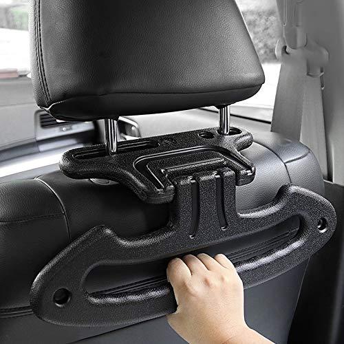 Mufly Percha de coche Percha de coche plegable Percha de función múltiple Percha de seguridad Percha de suspensión Percha de transporte Percha de transporte Negro