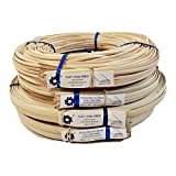 1 Pound Coil of Flat Oval Reed for Basket & Seat Weaving, Natural Color, Any Width, 3/16' 1/4' 3/8' 1/2' (1/4')