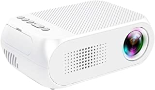 Portable Video Projector for Party/Game/TV Show/Camping, Souqgreen Mini Projectors, Support HD 1080P Max Multimedia 3D Home Theater Cinema With Speaker Home Use(White)