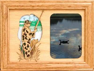 GiftWorksPlus Duck Hunter 5x7 Oak Picture Frame