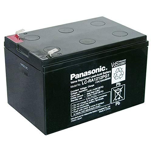 Panasonic Batería de plomo LC-RA1212PG1 12,0 V 12.000 mAh con conectores de 6,3 mm.