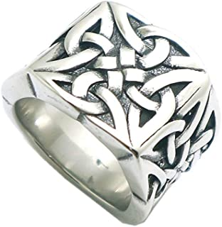 Gungneer Celtic Irish Knot Stainless Steel Ring Jewelry Accessories Gift Men Women