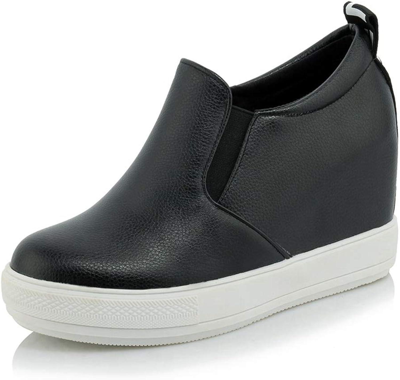 CYBLING Women's Hidden Heel Wedge Sneakers Casual Platform Slip On Fashion shoes